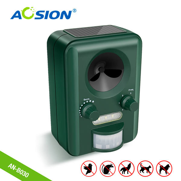Outdoor anti solar ultraschall wilden tier control motion sensor vogel weg chaser repeller