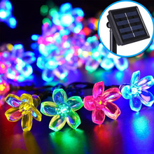 Solar Strip Lights, 50 LED Fairy Blossom Flower Garden Lights for Outdoor, Home, Lawn, Wedding, Patio, Party and Holiday