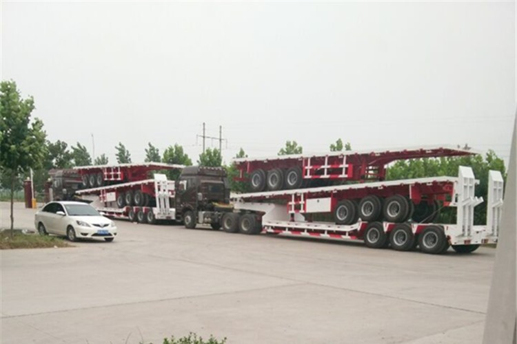 TOP quality tri-axles 40 feet container flatbed semi-trailer