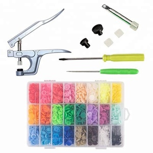 Snap Pliers + 360 Set KAM T5 Snap Plastic Buttons Fastener 24 Colors Poppers Press DIY Studs Tools