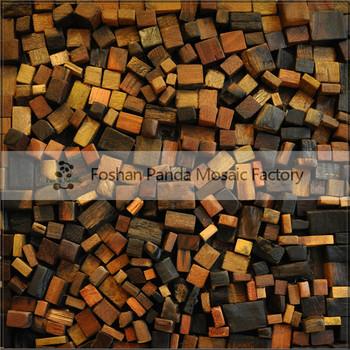 Mb Mc5135 Chinese Tea House Decorative Wall Tile Old Ship Wooden Mosaic Art Wood Mosaic View Wood Mosaic Panda Mosaic Product Details From Foshan