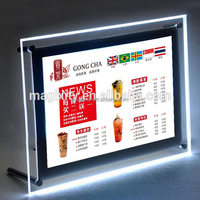restaurant advertising signs a2 picture frame menu board led crystal light box