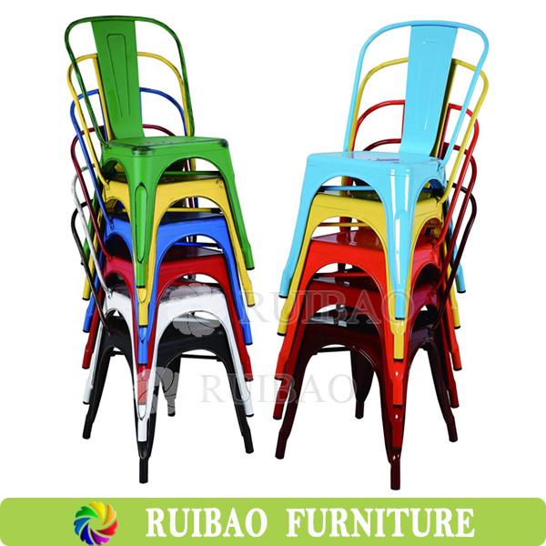 pas cher restaurant meubles couleur industrielle empilable chaise en m tal utilisation pour caf. Black Bedroom Furniture Sets. Home Design Ideas