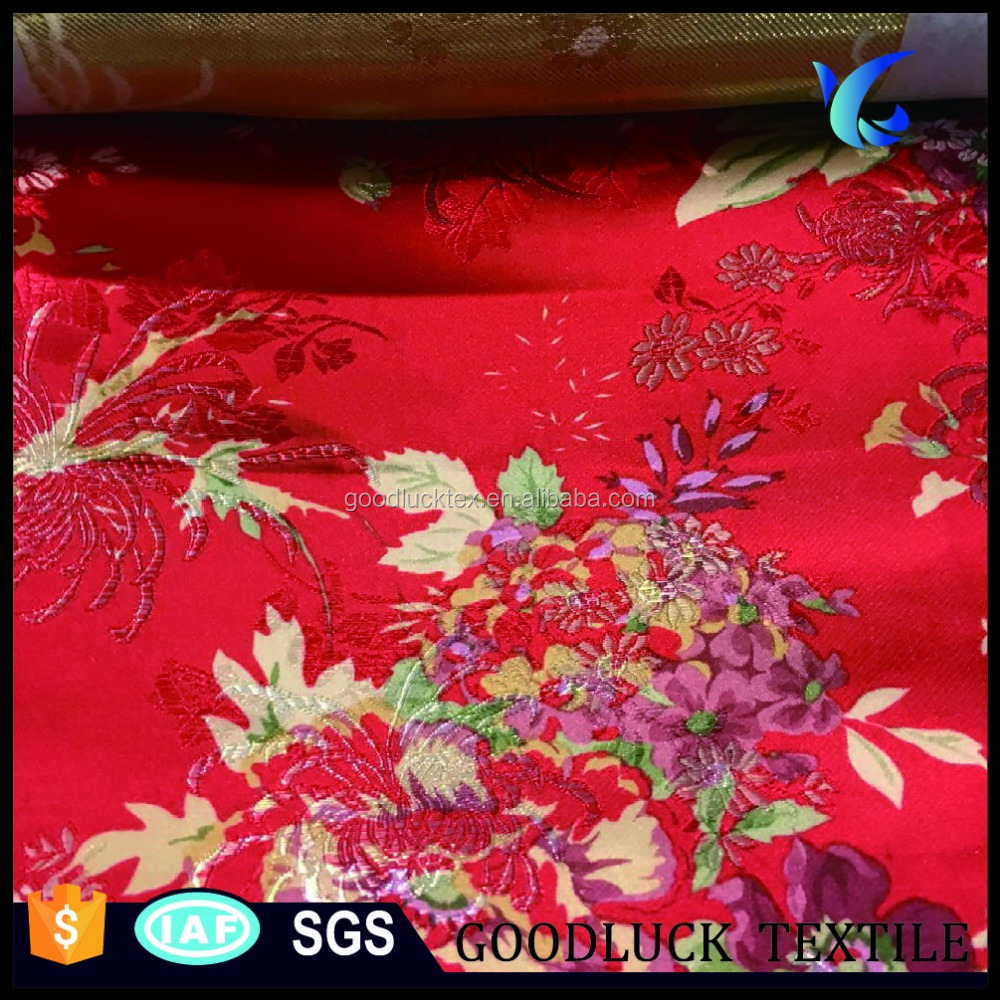 New Design High Quality for Chinese Supplier Satin Brocade Fabric