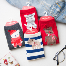 Wholesale caramella custom print colorful cartoon cotton socks