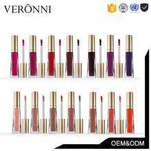 Hot Selling Cosmetic Waterproof Lipgloss 16colors Matte Lipstick Private Label