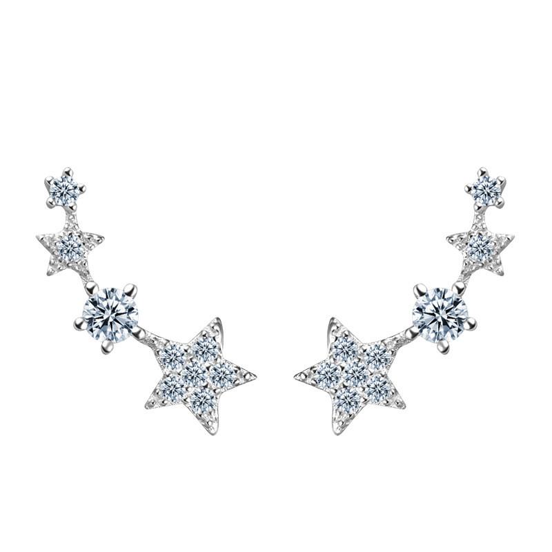Shiny crystal star fashion earring designs new model earrings for girls фото