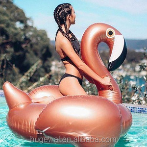 Summer Swimming pool or beach pink/rose gold inflatable flamingo cool beach floats