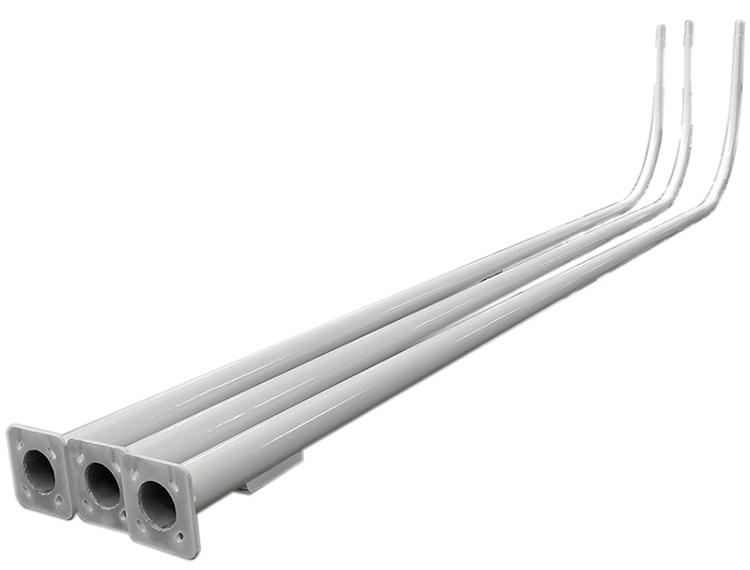 Powder coated single arm street light steel pole