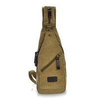six color men crossbody canvas sling bags