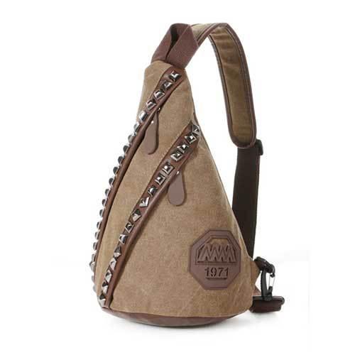 2015 New Fashion Men Sport Canvas Rivet Messenger Bags Hot Sell Man  Shoulder Bag Outdoor Travel Hiking Military men Bag 9a1a23ec4c49b