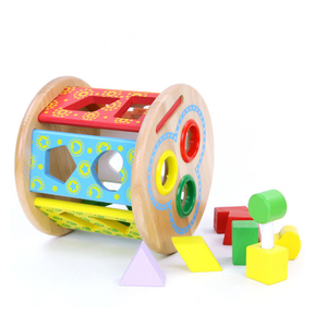 Kids creative interesting colorful hammer baby knock early educational game china wooden toy