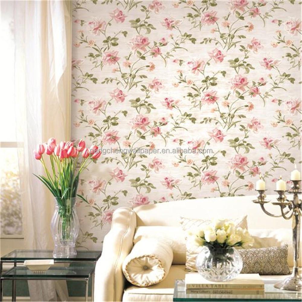 Merah Mawar Bunga Bunga Kertas Wallpaper Untuk Dinding Kamar Tidur Buy Wallpaper Merah Mawar Bunga Bunga Wallpaper 3d Wallpaper Untuk Dinding