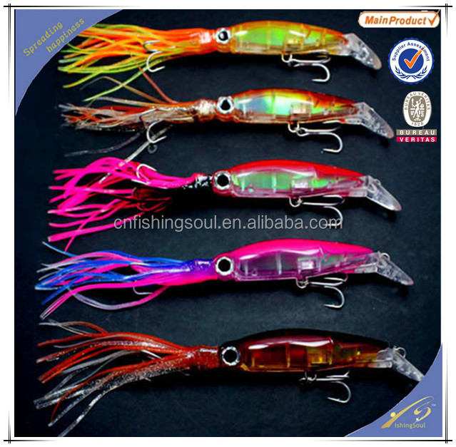 SKL005 Big Game Casting Trolling Squid Skirt Lures Tuna Marlin Kingfish Mackerel