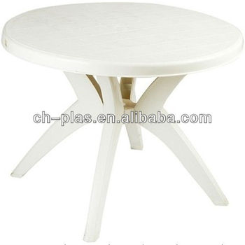 Table À Manger Pas Cher Blanc Jardin Table Ronde En Plastique - Buy ...