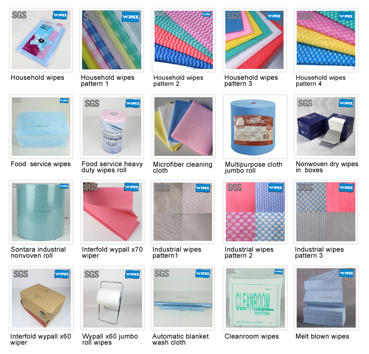 chinese spunlace non-woven roll wholesale stripe print handy cloth supplier household cleaning cloths