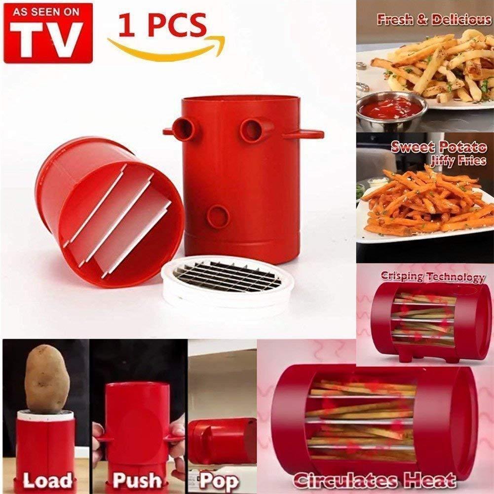 Microwave oven Jiffy Fries Maker Sysmarts Slicer, Premium Potato Slicer Grater