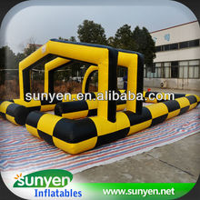 Fantasy Big Inflatable Race Track Sports Game
