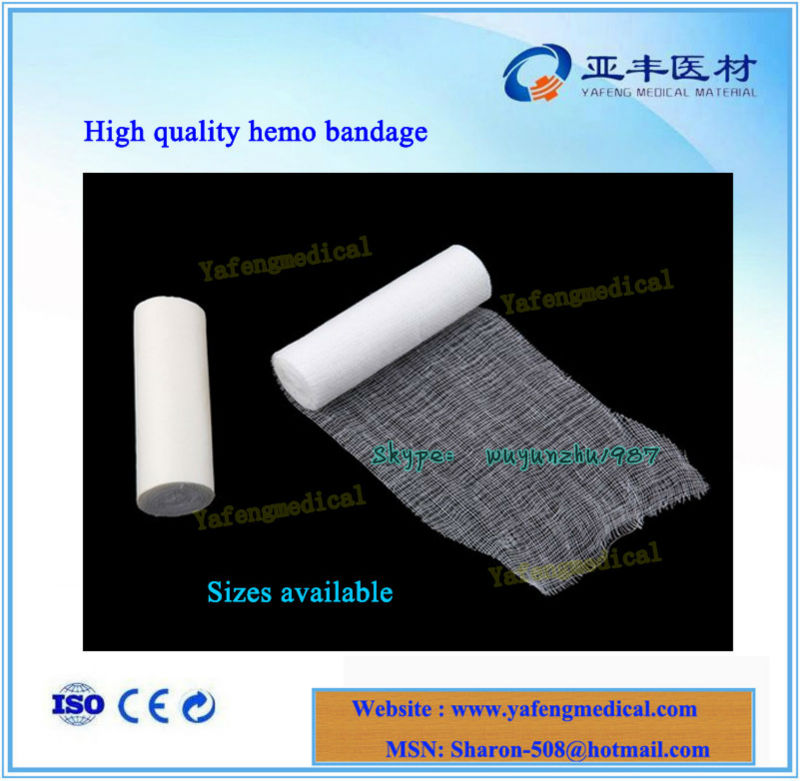 High quality medical cotton hemo gauze bandage products