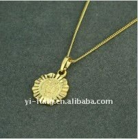 fashion 18KGP Allah Golden Pendant
