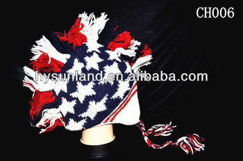 American Flag Knit Wool Mohawk Beanie Hta - Buy American Flag Knit ... f524e7dddd8