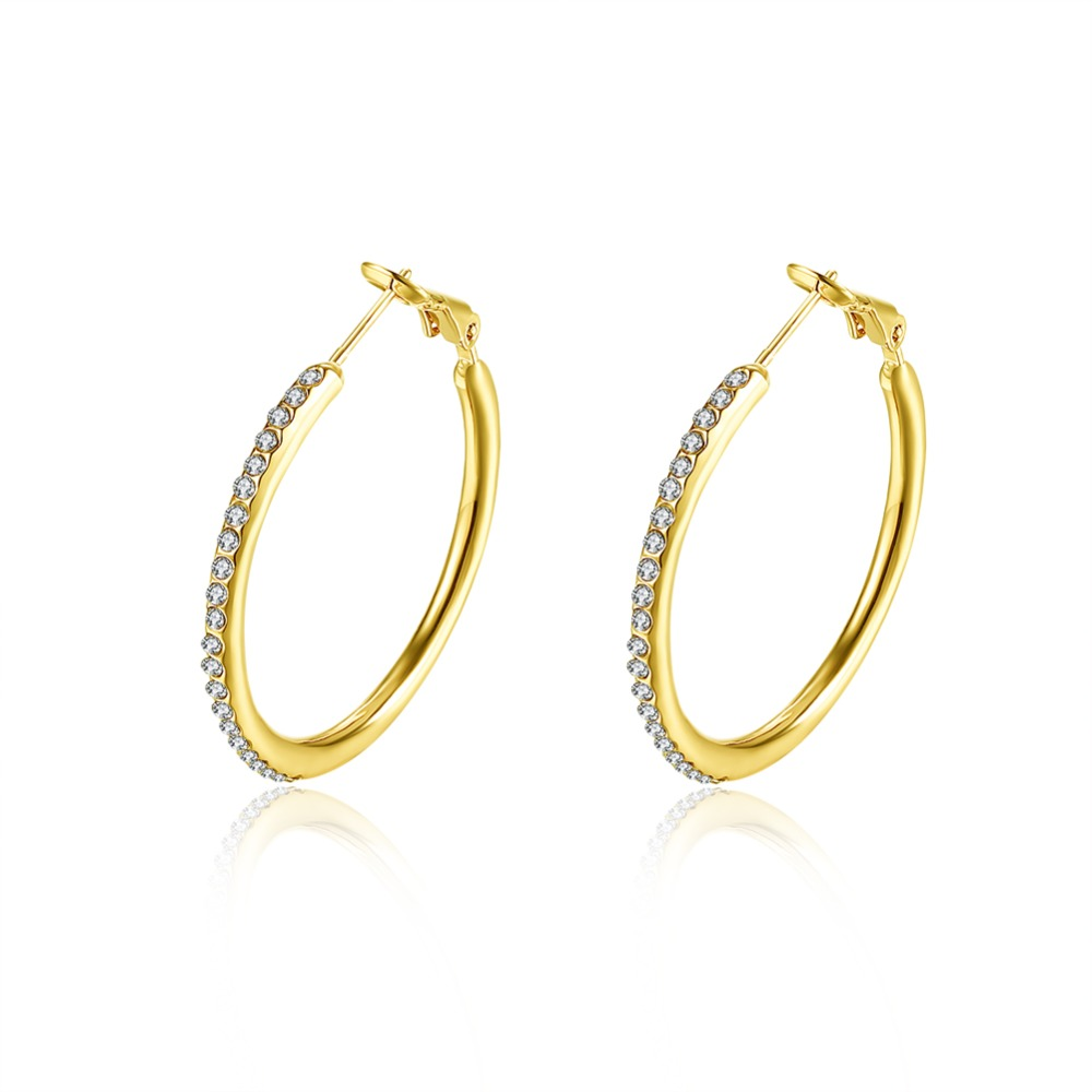 rose earrings with stone golden jewellers product kista qqartz