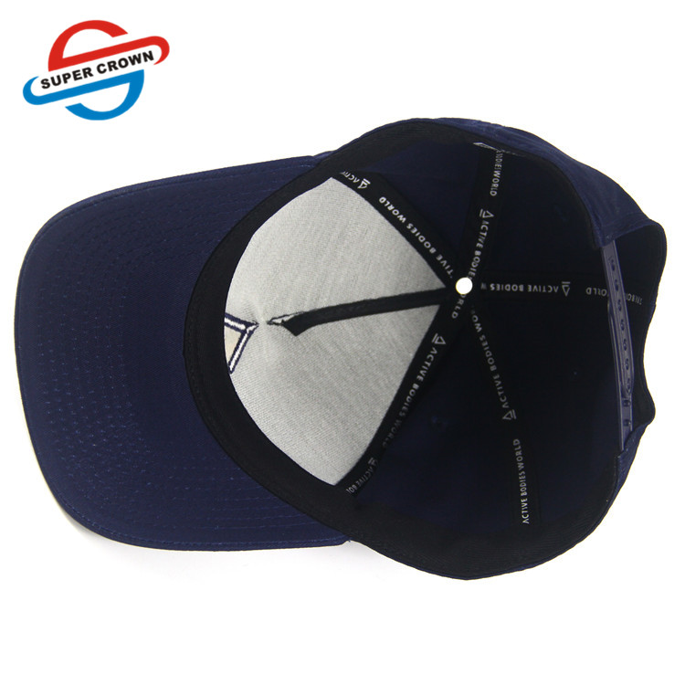 Quality wholesale cheap 5 Panel 100 Cotton Adjustable Custom 3d embroidery logo men women Snapback Blue sports Baseball cap Hats