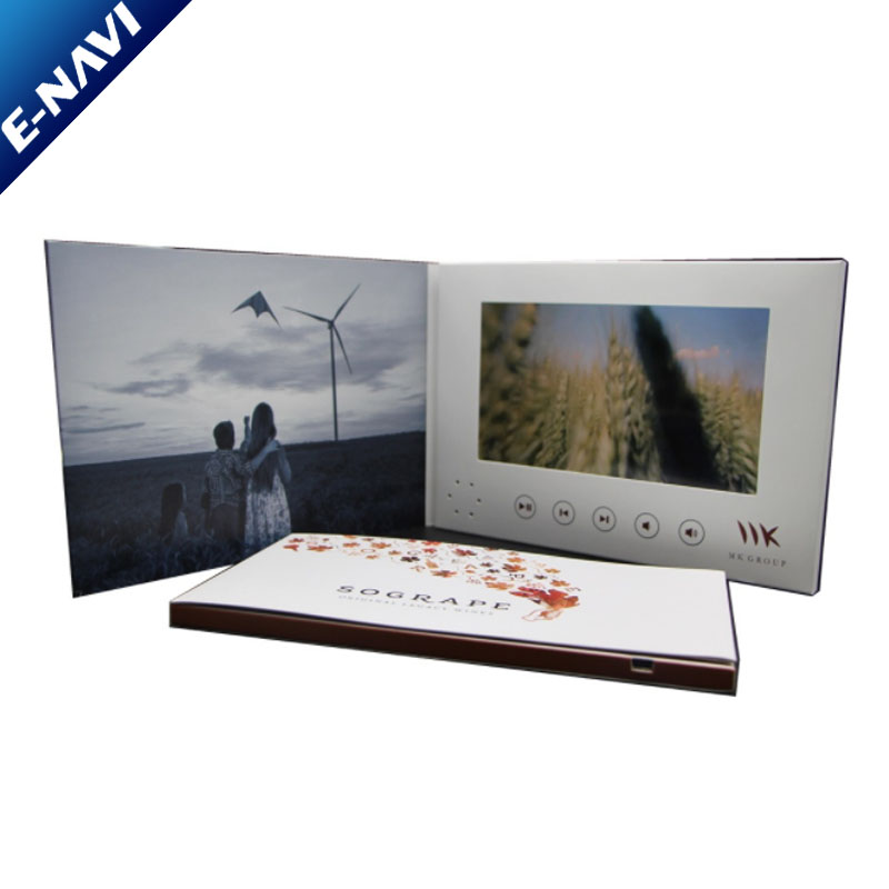 7 Inch Wedding Invitation Video Greeting Lcd Screen Business Video Card