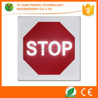 outdoor lighted electronic bus flashing solar battery powered led stop signs