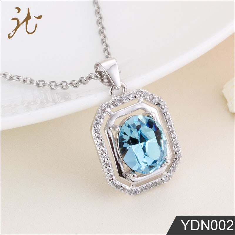 New Design Women Austrian Crystal Jewelry 925 Sterling Silver Charm