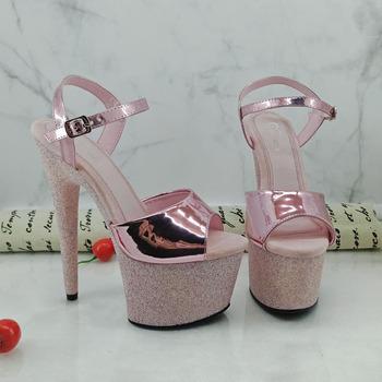 bfcee66b0d8 15 Cm Gesper Wanita Sandal Wanita Lembut Sandal Populer Platform Peep Toe  High Heels Seksi 5 Inch Penari Eksotis Sepatu Sandal - Buy Penari Slipper  ...