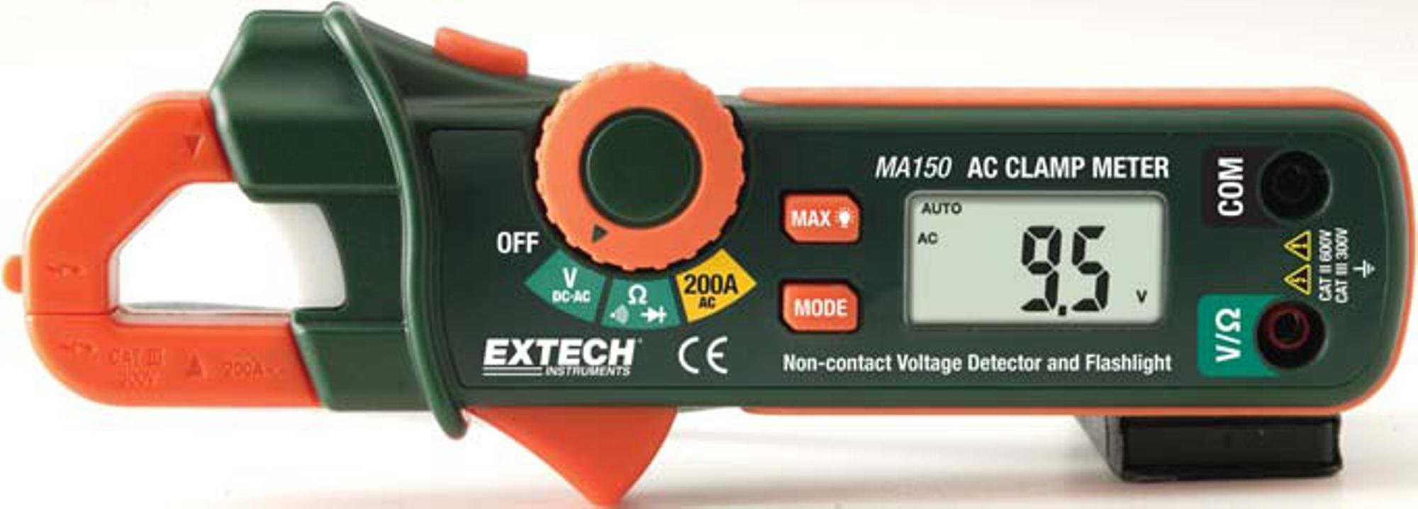 Extech MA150 Clamp Meter With Built-In Non-Contact Voltage