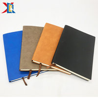 OEM Logo Available A5 PU Leather Soft Cover Lined Note Book Diary Paper Notebook
