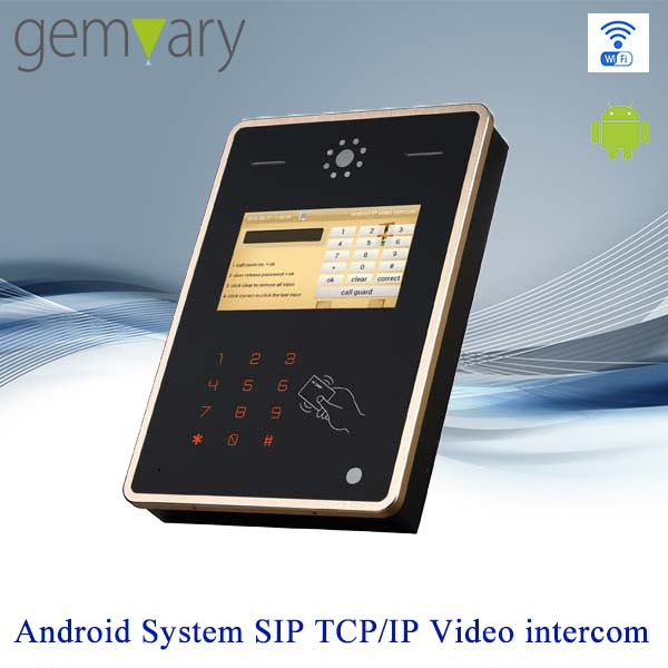 7 inch touch screen TCP/IP voip door with camera