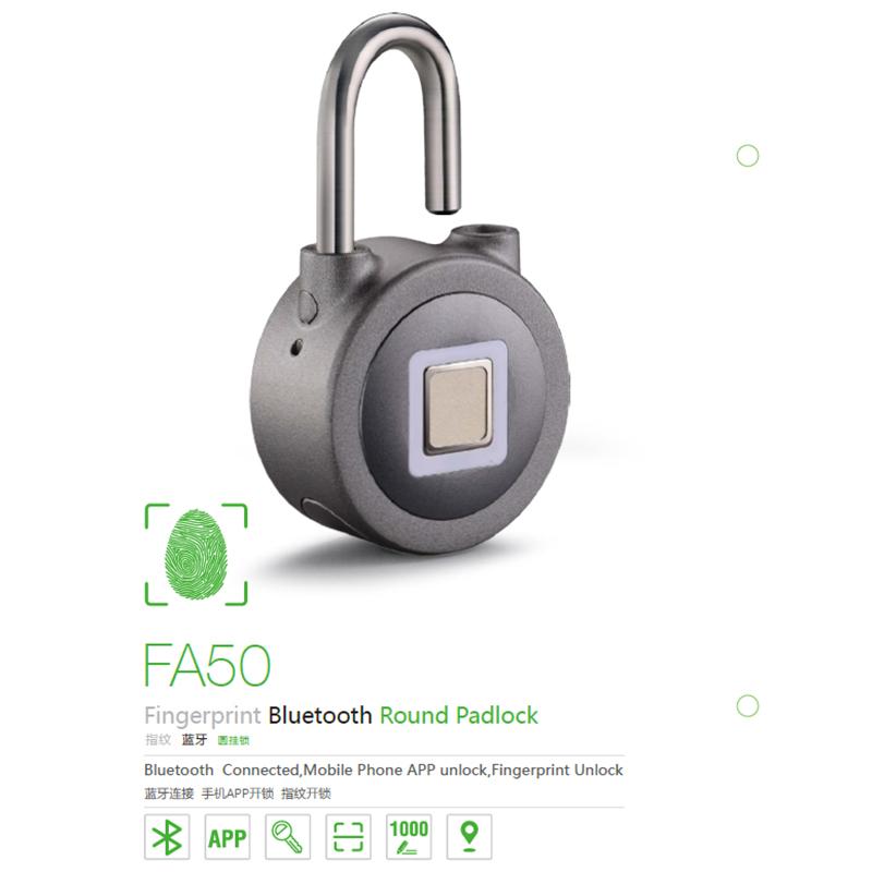 2018 moderne intelligente d'empreinte digitale bluetooth cadenas électronique