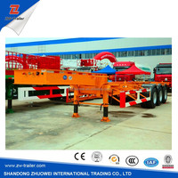 High quality 3 axles 40ft container trailer chassis