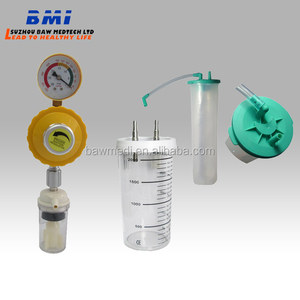 CE wall mounted Medical Suction canister;suction jar;suction bottle used in bed head unit