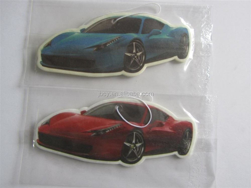 2015 promotion commercial car paper air freshener for American car wash