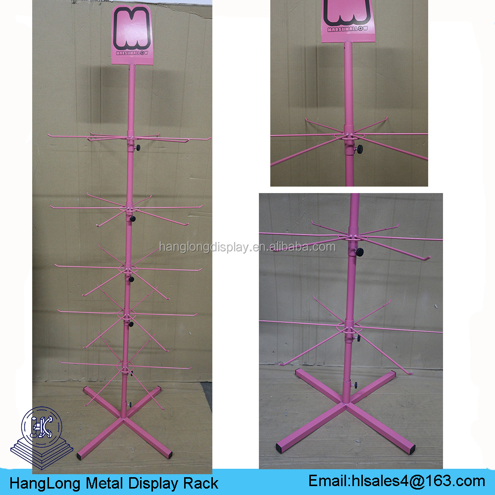Collapsible spinning metal hair bow display rack HL-L003