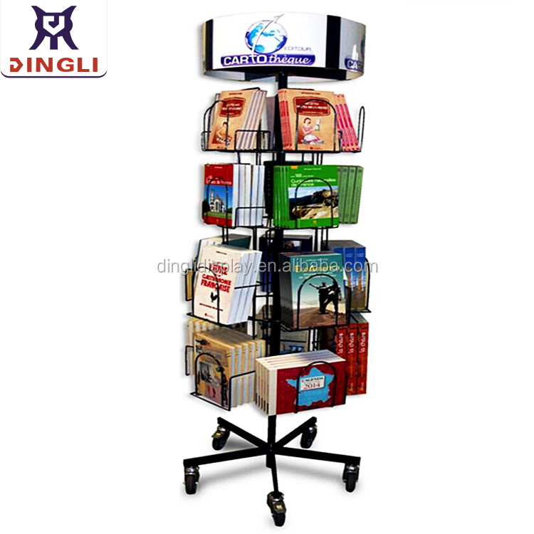 Spinning Floor Card Display Cd Rack Dvd Holder Magazine Rack Brochure Stand Leaflet Display