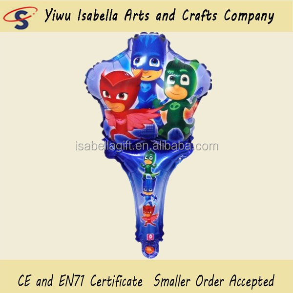 2017 hot new products PJ Masks cartoon balloons hand hold kids toys balloon