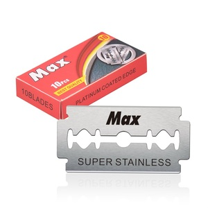 Max brand Sweden stainless steel double edge razor blades shaving safety blade