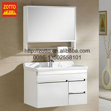 Factory direct supply ceramic tops vanity bathroom bath cabinet with white wash sink