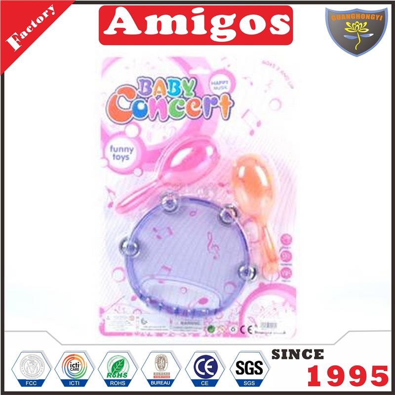 factory direct baby rattle tambourine hammer musical toys for kids