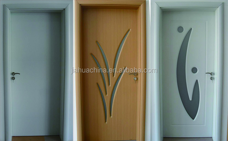Chinese Style Pvc Sheet Wood Plastic Door Design Bathroom