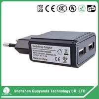 Mutifunational fast charging universal travel usb direct plug-in 5v 2a power adapter