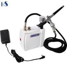 HSENG HS08AC-SK Set Tattoo Nail Art 3 Airbrush and Compressor Kit Dual-Action Spray Air Brush