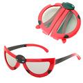 New Collapsible Beatles Child s 3D Glasses Family Kid Passive Polarized 3D Glasses Kit for LG