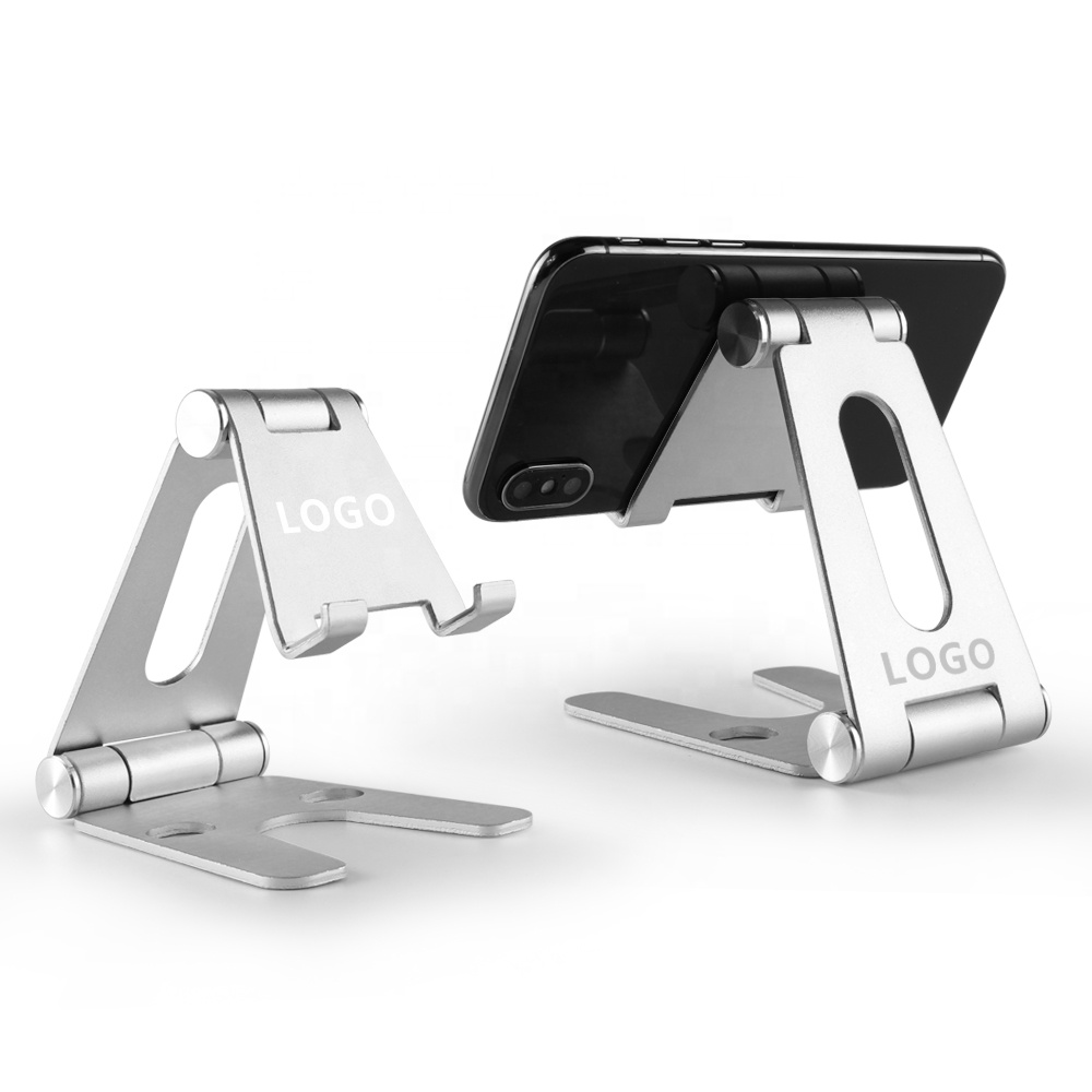Hot Sale Foldable Adjustable Alloy Desk Mobile Phone Holder, table metal stand 270-degree rotation aluminum