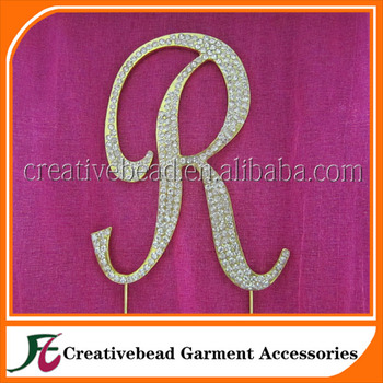 birthday cake topper letters r crystal rhinestone monogram wedding cake toppers cake decorating toppers